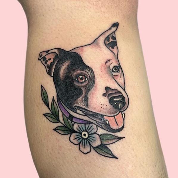 Kerry Dog Portrait Tattoo