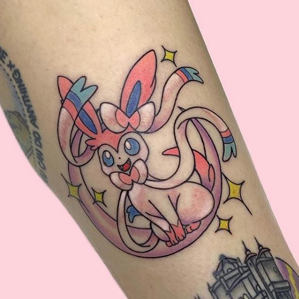 Pokemon New School Tattoo