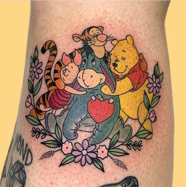 Winnie The Pooh New School Tattoo